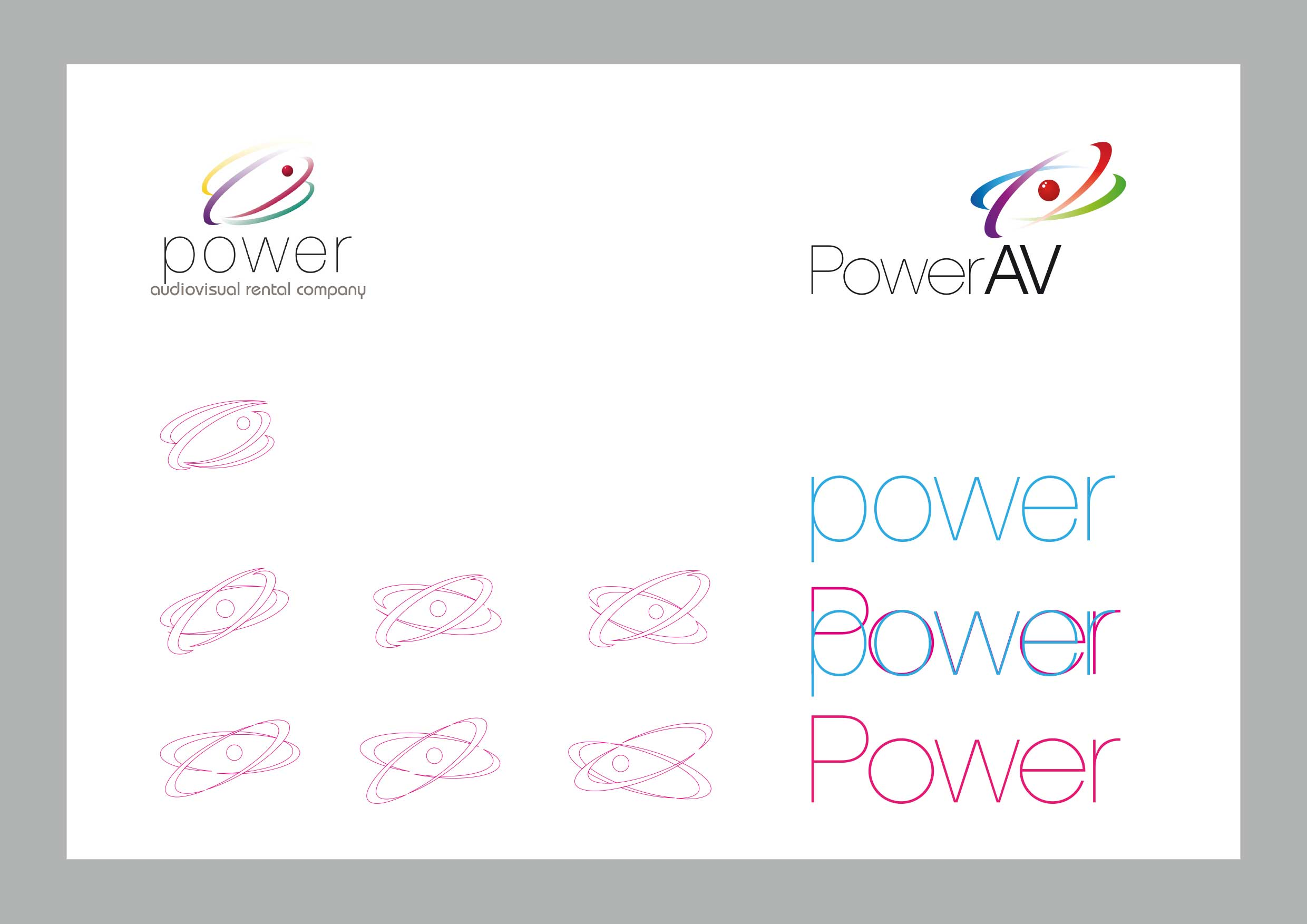 Restyling del logotipo de Power AV