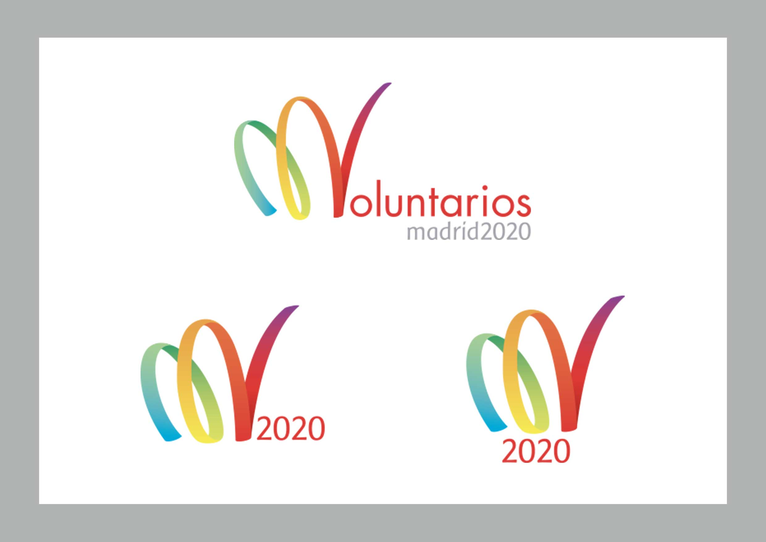Versiones logotipo Voluntarios Madrid 2020